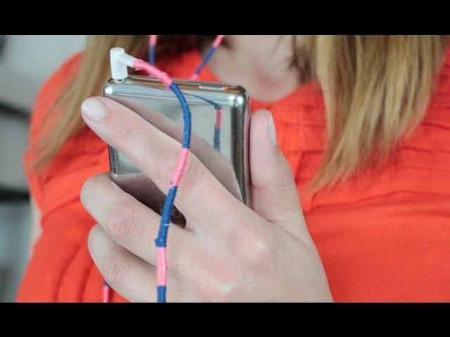 DIY. Des écouteurs à rayures colorées