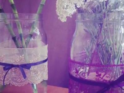 DIY N°4. Comment transformer ton vase avec de la dentelle?