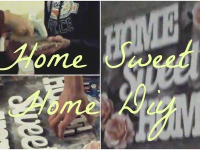 Diy | Tableau Home Sweet Home