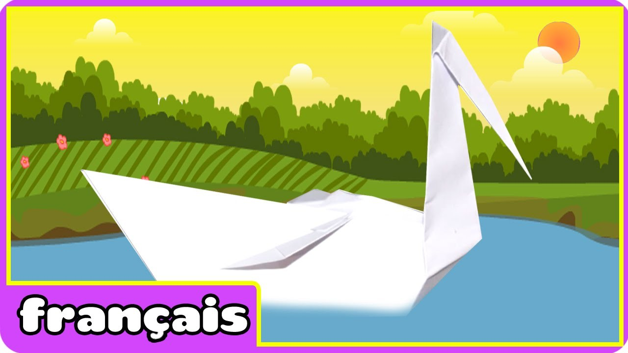 Origami Swan | Origami Cygne  | Comment Faire Origami | Origami en Français | HooplaKidz Français