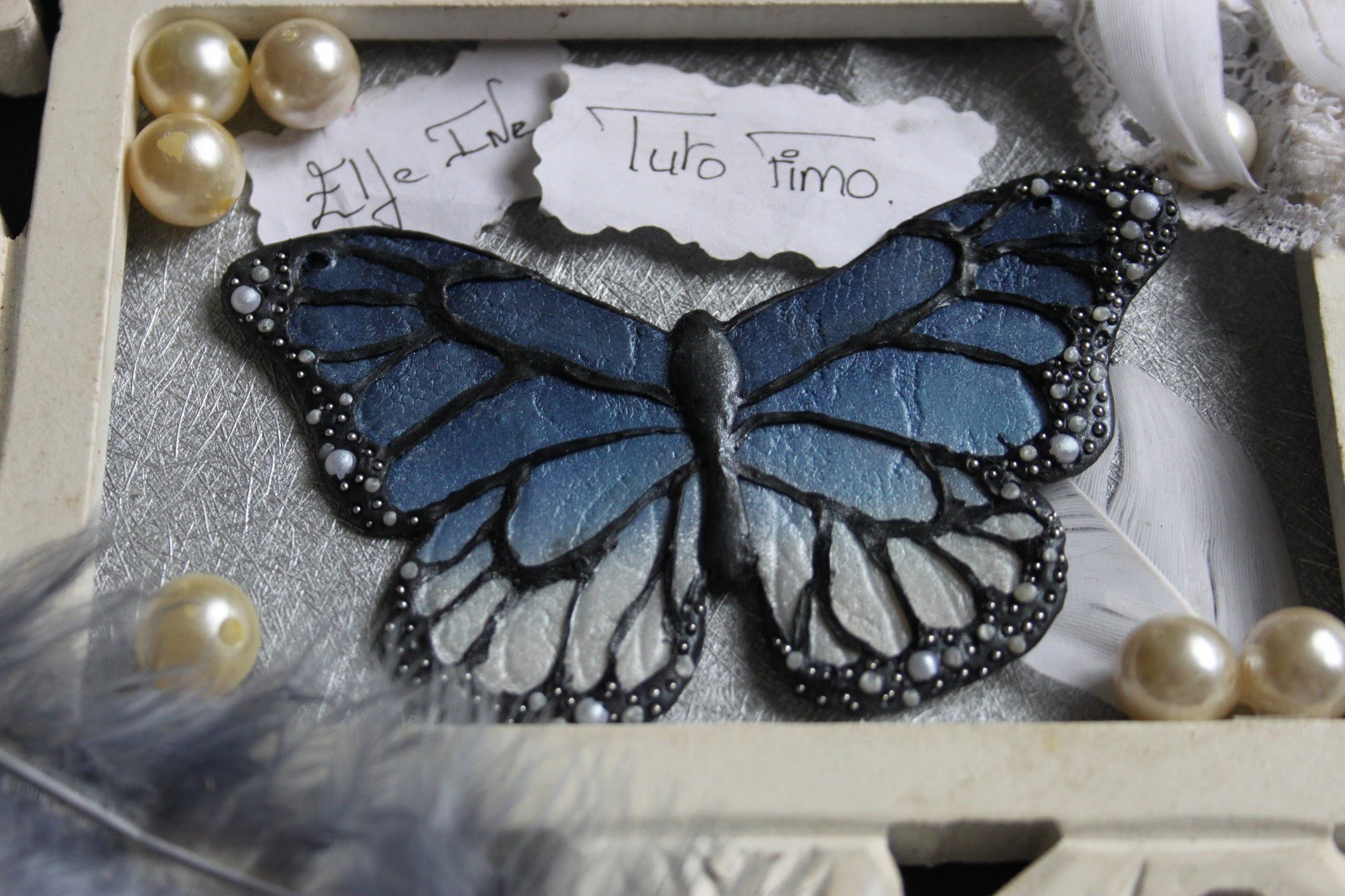[♥✿ Tuto Fimo : Collier Papillon ✿♥] ~ [♥✿ Polymer Clay Tutorial : Butterfly Necklace ✿♥]