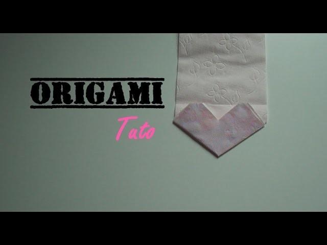 [Tuto] Origami coeur sur papier toilette -- Origami heart paper toilet