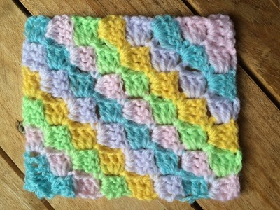 Tutoriel C2C corner to corner crochet. Tutorial C2C a crochet