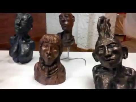 Vidéo 4 Sculpture en Papier Maché et Terre cellulosique