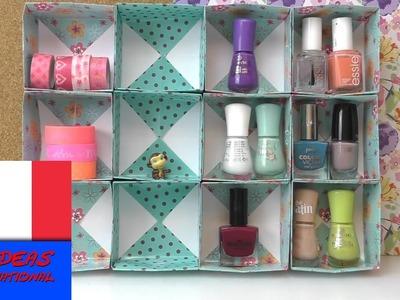 Boîte de rangement pour accessoires, DIY. Cubes de papier et carton. Tutorial en français