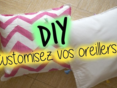 DIY ❤ Customisez ses oreillers. Pillow Case I DIY Français