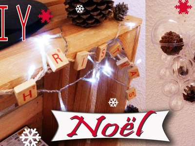 DIY déco de Noël 2015 : guirlande Merry Christmas et suspension faciles à faire et originales.