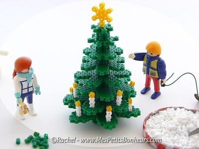 Sapin de Noël 3D en perles Hama à repasser - Tutoriel