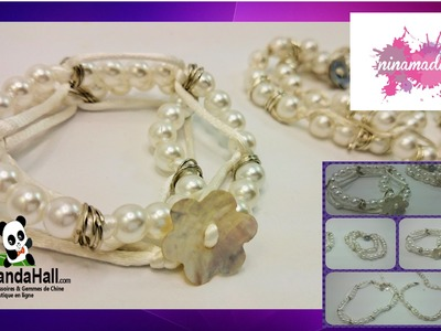 Tuto 2. DIY.Bracelet double avec perles neige.Fr.Pandahall.com.