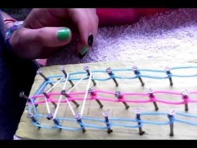 Tuto bracelet élastique rainbow loom 1partie