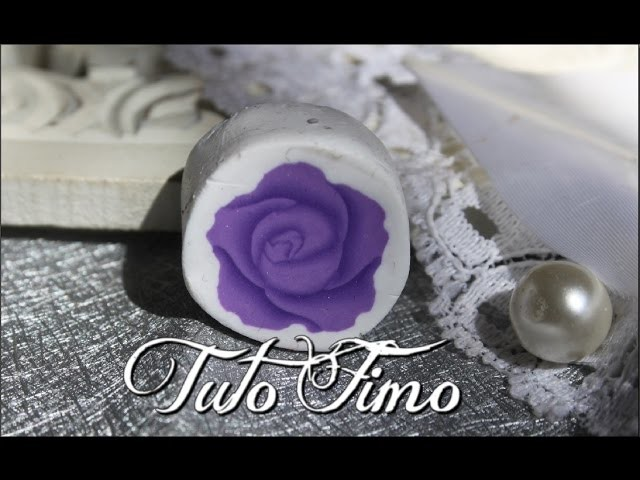 [♥✿ Tuto Fimo : cane rose ✿♥] ~ [♥✿ Polymer Clay Tutorial : cane rose ✿♥]