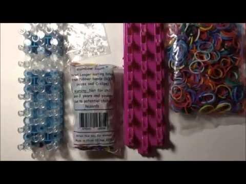 Bracelet élastique comparatif Rainbow Loom avec CraZLoom