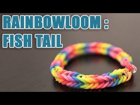 Bracelet Rainbow loom Fish Tail arc-en-ciel