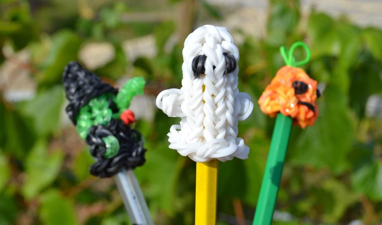 Comment faire une figurine fantôme en élastiques - Halloween - Ghost rainbow loom