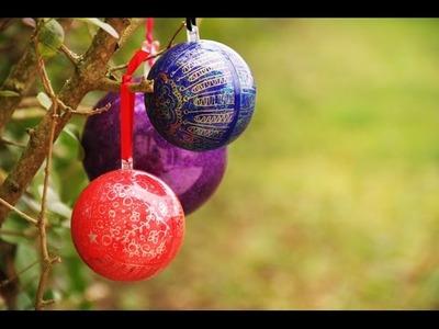 DIY # Boules de Noël pailletées
