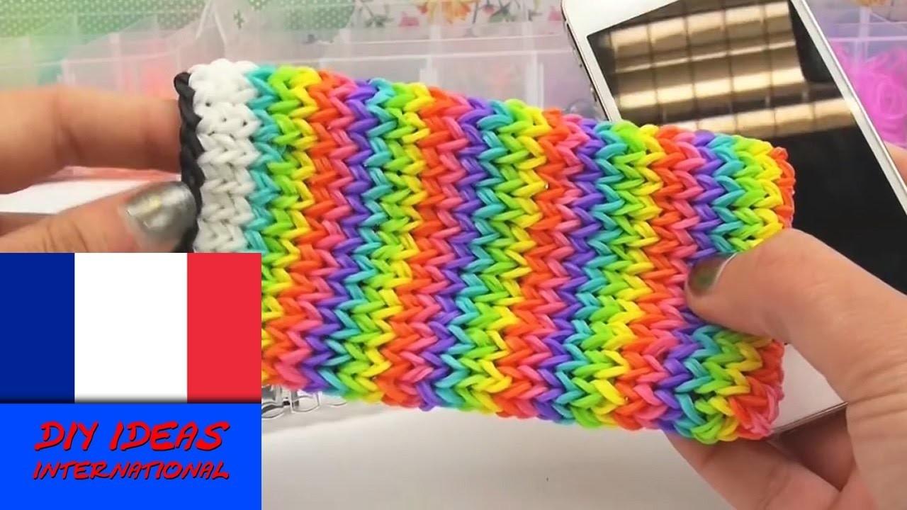 DIY Comment faire une pochette iPhone en loom élastiques sur le rainbow loom - tutoriel en français