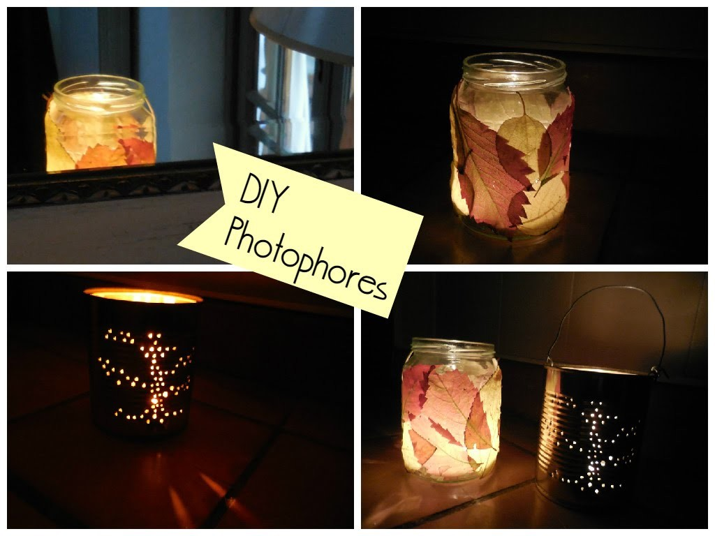 [ DIY ] Photophores d'automne. Fall mason jar lanterns - Autumn