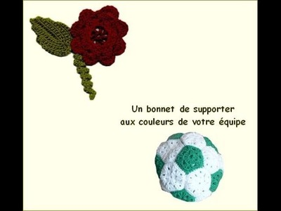 Foot-ball : un bonnet en forme de ballon de foot au crochet