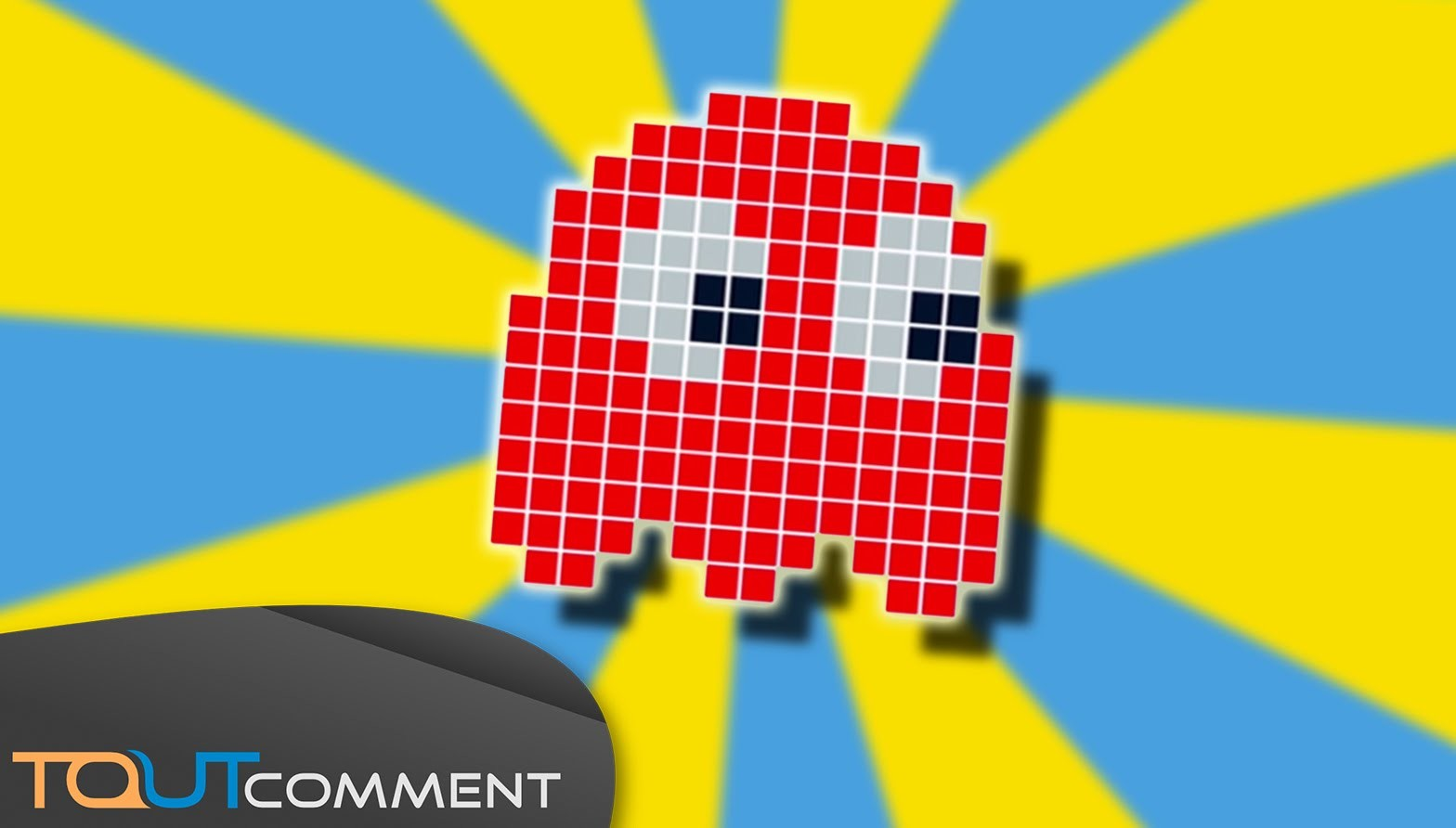Perle de Hama. Perler beads : Fantôme rouge de Pac-Man