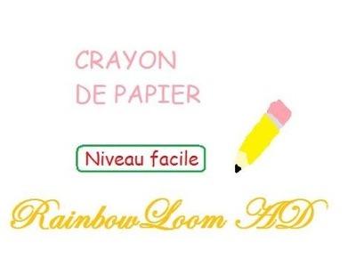 Rainbow Loom CRAYON DE PAPIER [Tuto FR]