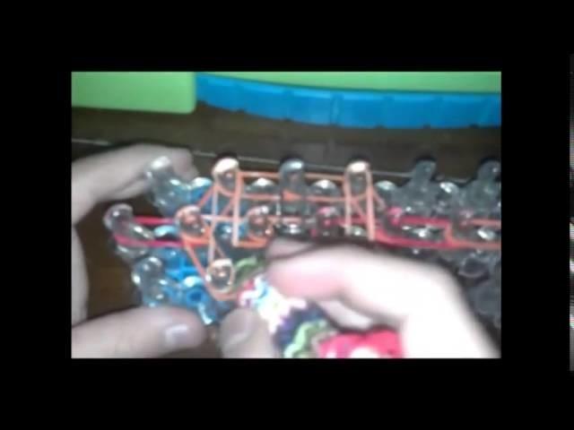 Snake 2 Looms Rainbow loom  Tutorial