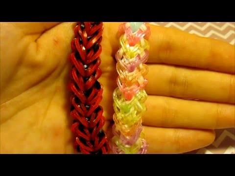 [TUTO] : bracelet coeur en rainbow loom