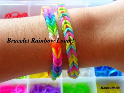 ✿ Tuto:Bracelet Rainbow Loom FACILE avec stylos(francais)✿