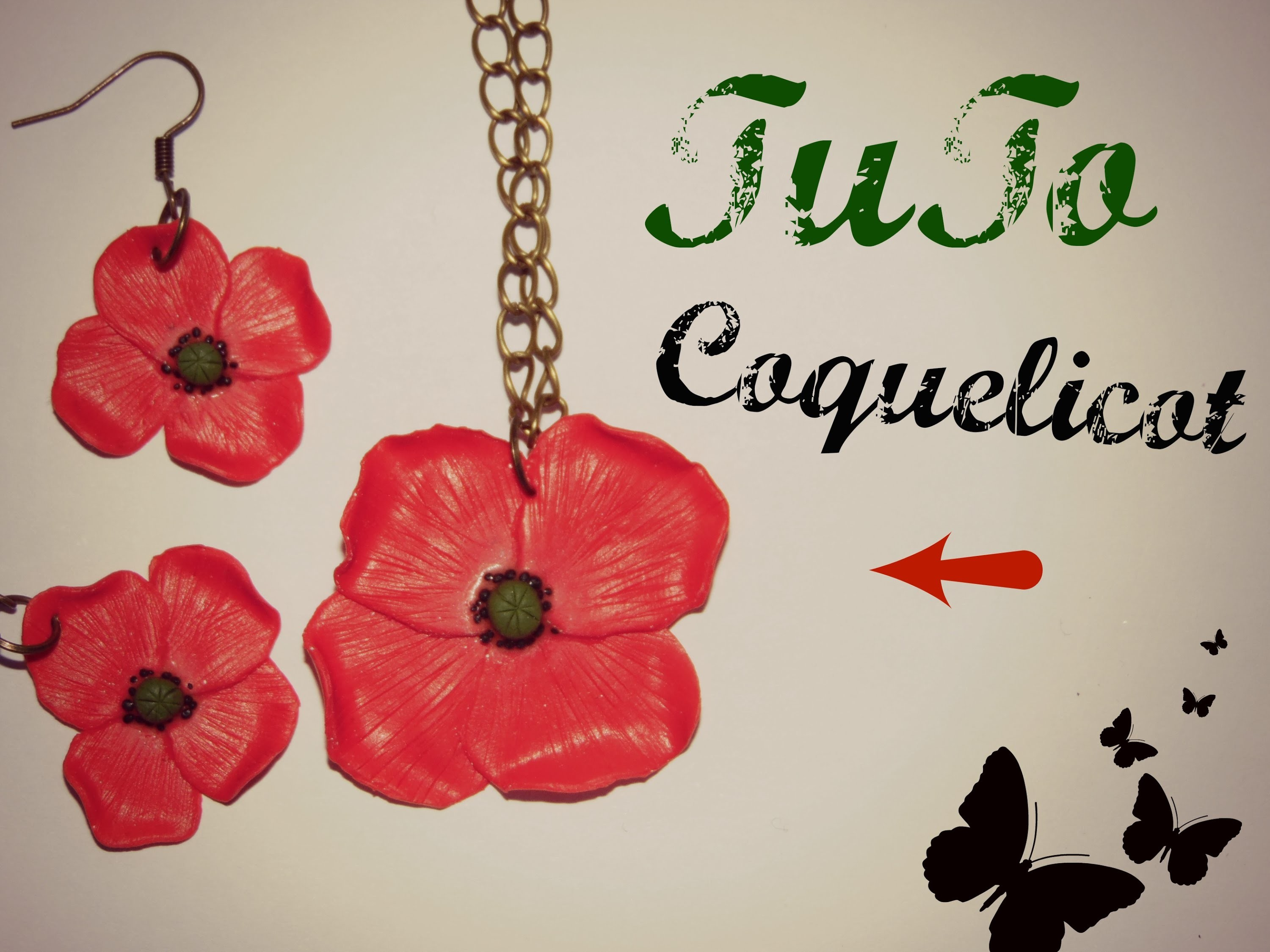 TUTO FIMO → Coquelicot. Poppy Polymer clay tutorial