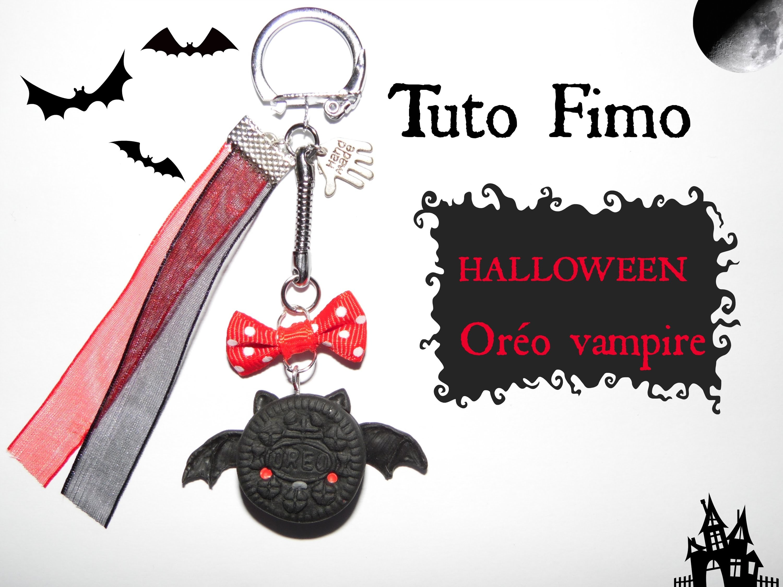 TUTO FIMO HALLOWEEN →Oréo vampire. Vampire oreo Halloween polymer clay tutorial