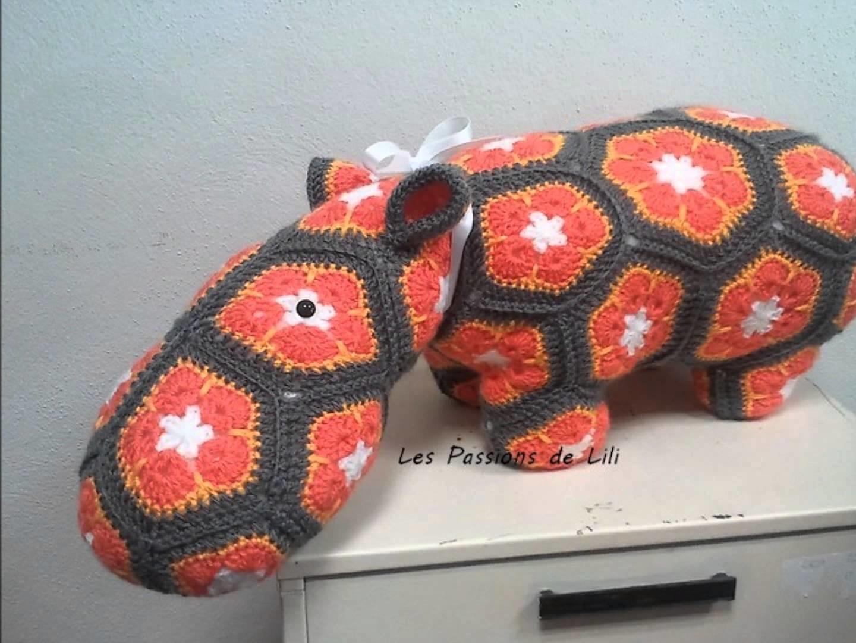 African flower : mon hippopotame