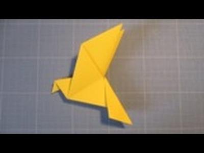 Comment réaliser une colombe en papier (origami)