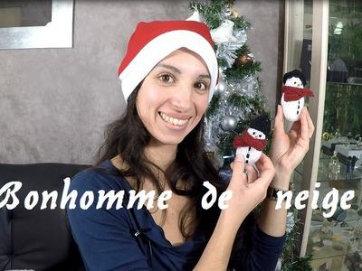 D I Y tricoter un bonhomme de neige facile et rapide. Joyeux Noel. Merry Christmas