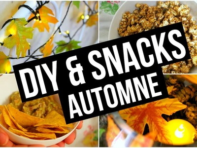 DIY & Snacks ♡ Automne. Fall I DIY Français