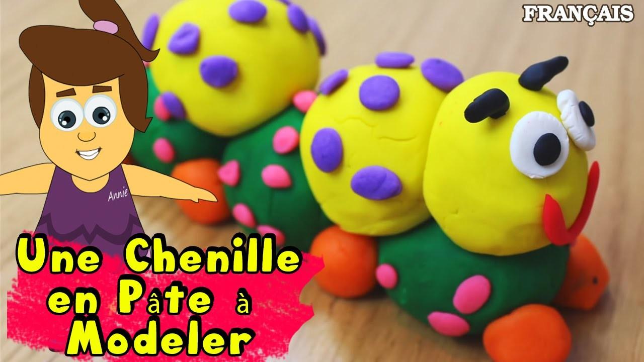 Francais Facile: How To Play Doh Caterpillar in French | DIY Rapide: Chenille en Pâte à Modeler