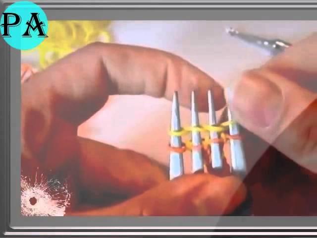 Loom Bands Hexafish mit einer Gabel Rainbow Loom deutsche Anleitung Video