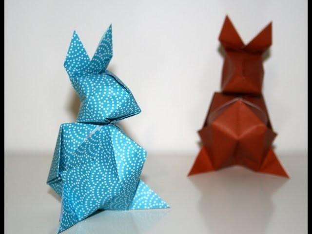 origami lapin de paques easter bunny senbazuru. Black Bedroom Furniture Sets. Home Design Ideas