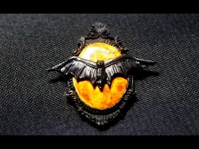 Taxidermy Bat Cameo ll YWC#9 polymer clay tutorial