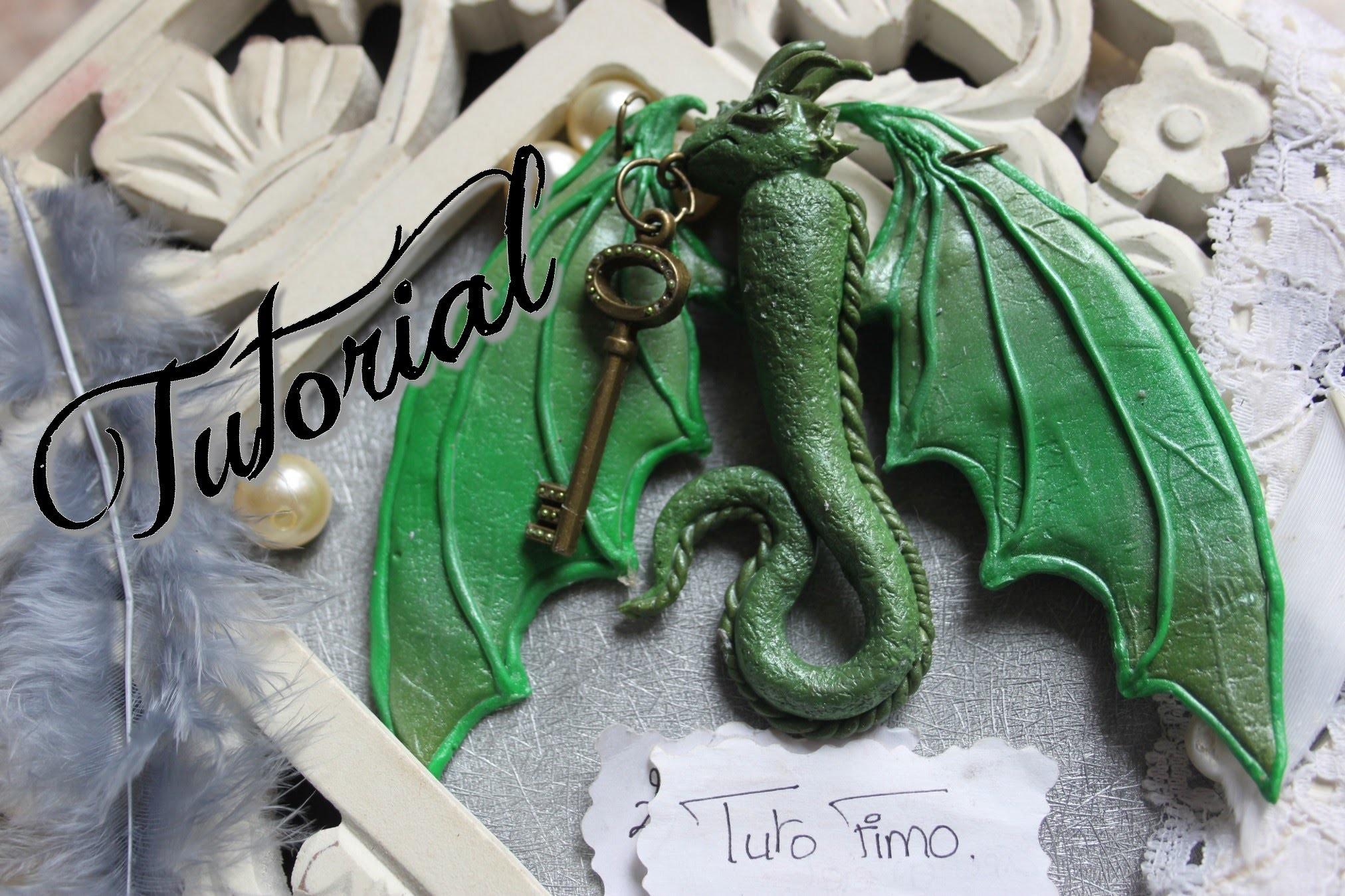 [♥✿ Tuto Fimo : Plastron Dragon  ✿♥] ~ [♥✿ Polymer Clay Tutorial : dragon necklace ✿♥]