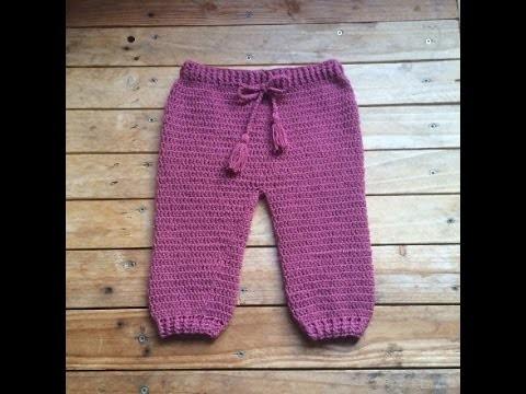 Tutoriel crochet : pantalon bébé. pantalon bebe a crochet facil