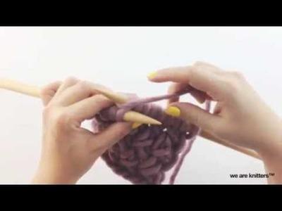 Comment tricoter LE POINT CROISÉ | WE ARE KNITTERS