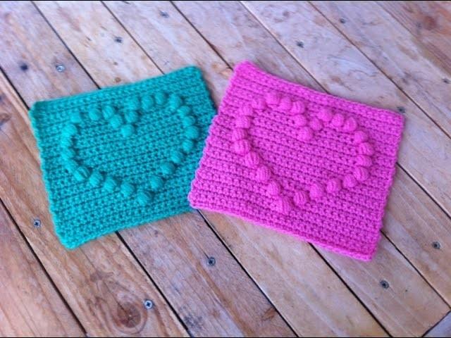 Cœur puff crochet 2. punto puff corazon crochet 2