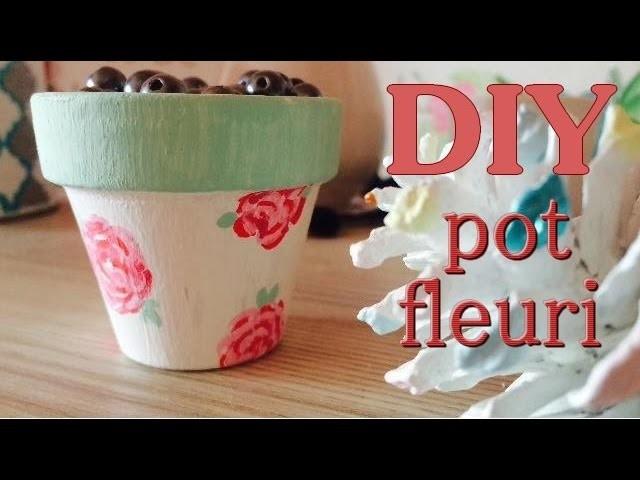 DIY | Décoration de chambre - Pot fleuri ✿