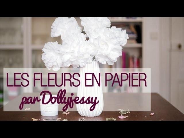 Faire des fleurs en papier - DIY déco de mariage avec DollyJessy