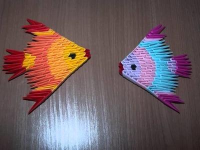 Poisson-Libellule-Papillon en origami 3D