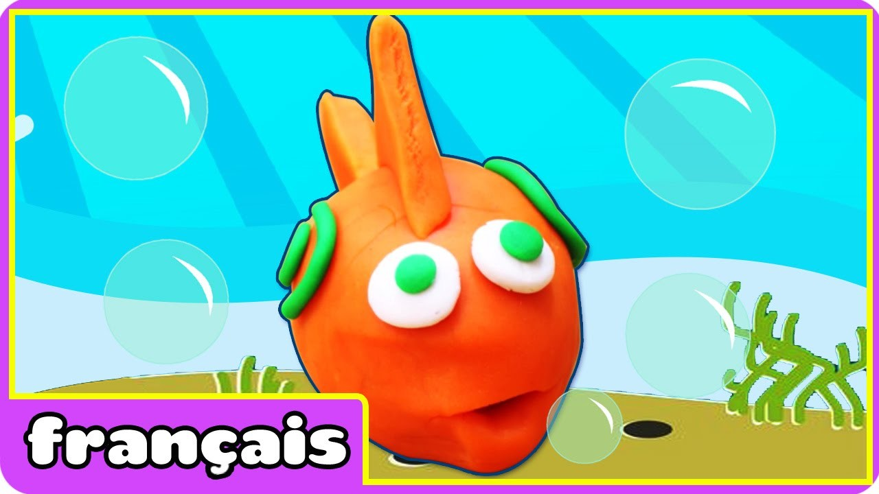 Poisson rouge en pâte à modeler | How To Make PlayDoh Fish | By HooplaKidz Français