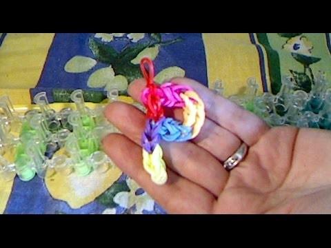 Rainbow loom francais lettre P ( loom band )