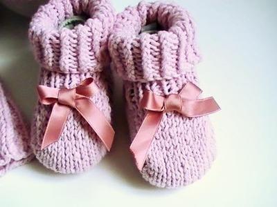 Tricot chaussons bébé tuto