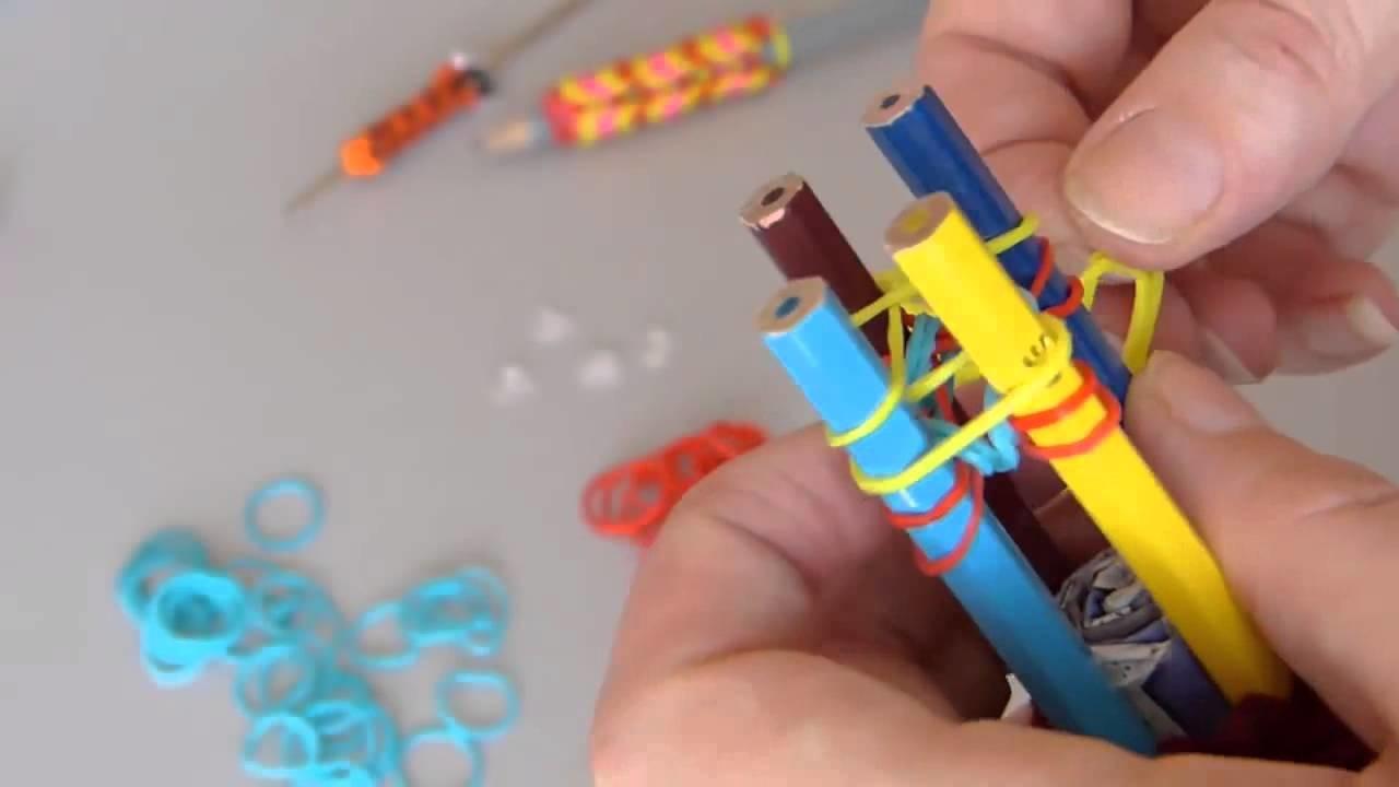Tricotin pour élastiques Rainbow Loom   fabrication et mode demploi   LOOM BANDS FRANCAIS