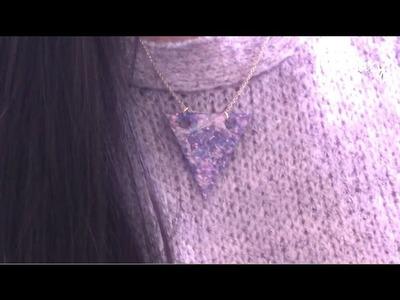 TUTORIEL - D.I.Y. : COLLIER COSMIQUE | Galaxy Nail Polish Necklace