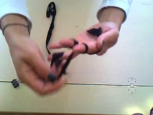 Tutoriel. DIY Bracelet tissu en tricot